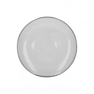 Platzteller, Servierplatte MIKASA CAMEO SILVER D. 31cm weiß silber KitchenCraft