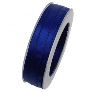 Doppelsatin Stoffband Schleifenband 10mm (1m=0, 20EUR) blau 25m Rolle Goldina