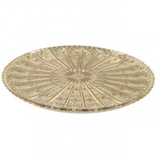 Dekoteller, Glasplatte COLET L gold D. 29, 5cm H. 1, 5cm Decostar WA