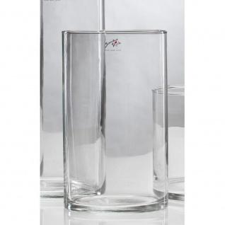 6er SET Glasvasen Dekogläser CYLI 25cm Ø 15cm Glas zylindrisch rund Sandra Rich