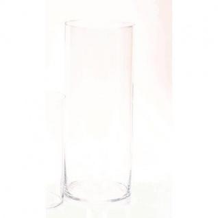 Bodenvase Dekoglas ZYLINDER H. 50cm Ø 19cm Glas klar rund Rudolph Keramik