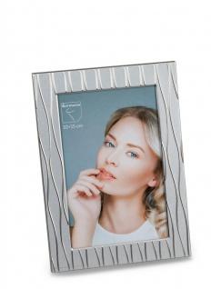 Fotorahmen, Bilderrahmen WELLEN silber für 10x15cm Metall Formano