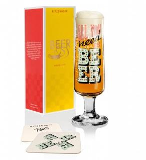Ritzenhoff BEER Bierglas, Need Beer mit Bierdeckeln by Potts 2019