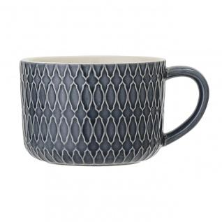 Tasse, Becher Naomi 3 blau weiß D. 9, 5cm H. 6, 5cm 300ml Keramik Bloomingville WA