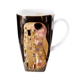 Gustav Klimt Becher, Tasse DER KUSS H. 14cm 450ml Goebel Porzellan
