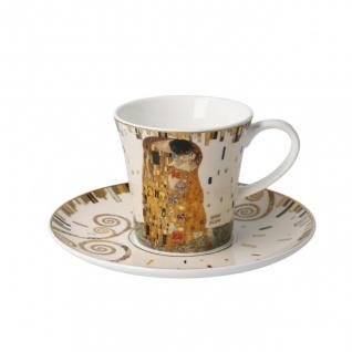 Gustav Klimt Tasse mit Untertasse konisch Der Kuss 250ml Goebel Porzellan