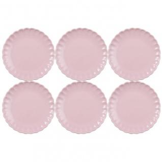 6er SET Kuchenteller, Dessertteller MYNTE ENGLISH ROSE rosa D. 19, 5cm Ib Laursen