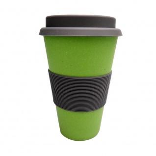 Kaffeebecher, Coffee TO GO Becher grün Bambus H. 15cm Magu NATUR DESIGN WA
