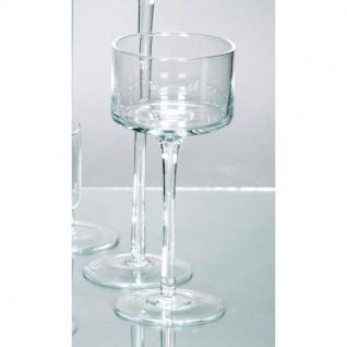 20er SET Teelichthalter Kerzenglas auf Fuß COPPA H. 20cm Ø 9cm Rudolph Keramik