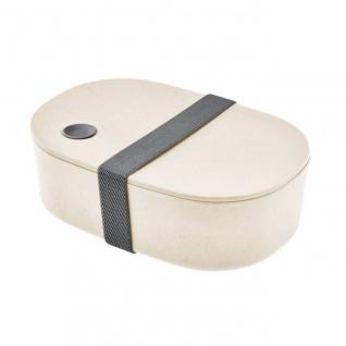 Lunchbox, Brotdose oval urban grey creme grau cm Magu NATUR DESIGN WA