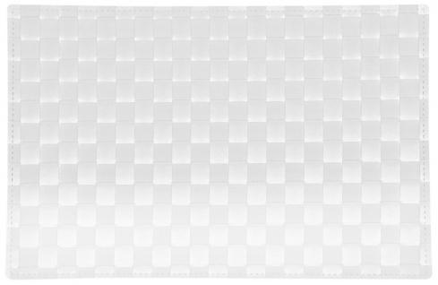 Platzset, Tischset GEFLOCHTEN weiß 43x30cm Kunststoff Kesper