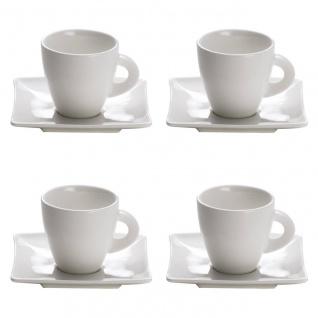4erSet Espressotasse mit Untertasse EAST MEETS WEST 80ml weiß Maxwell & Williams
