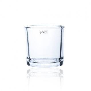 6er Set Teelichterhalter CYLI HEAVY H. 12cm D. 11, 5cm rund klar Sandra Rich