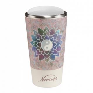 Lotus Kaffeebecher to go Lotusblüte rosa Bambus Kombi, H. 16cm 500ml Goebel WA