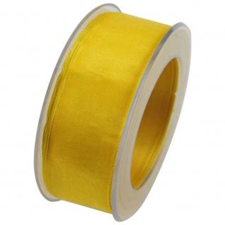Organzaband mit formstablier Kante 40mm gelb 20m Rolle (1m=0, 43EUR) Goldina