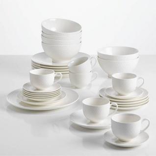 30-tlg. Kaffee- und Tafelservice Set DIAMONDS ROUND weiß Maxwell & Williams