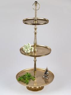 3 stöckige Etagere ALU ORGANIC GOLD rund gold Metall Formano
