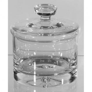 Vorratsdose, Bonboniere Kristallglas klar rund H. 18cm D. 16cm Formano
