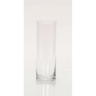 Dekoglas Vase Kerzenglas ZYLINDER H. 25cm Ø 10cm Glas klar Rudolph Keramik