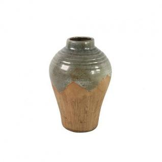 Deko Vase CARLLETTA M H. 34, 5cm D. 23cm grau braun Keramik rund Decostar WA