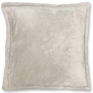 Kissen mit Füllung FREY 45x45cm pebble creme beige Unique Living
