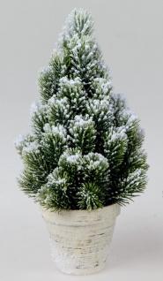 künstliche Tanne, Dekobaum im Topf H. 33cm grün verschneit Formano W20