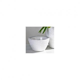 Übertopf Blumentopf Vase ANTIGUA weiß H. 10cm D. 19cm Keramik Casablanca WA