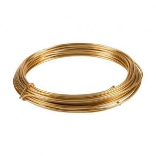 Deko Basteldraht, Aluminiumdraht gold 3 Meter D. 2mm (0, 50â?¬/m)Season