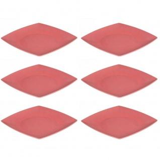 6er SET Speiseteller, Platten quadratisch rot 26x26cm Magu NATUR DESIGN