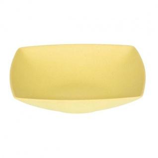 Suppenteller, Müslischale quadratisch gelb 18x18cm H. 4cm Magu NATUR DESIGN