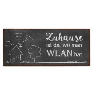 Schild WLAN schwarz Tafeloptik mit Aufhängung 30, 5x13cm Metal LaVida WA