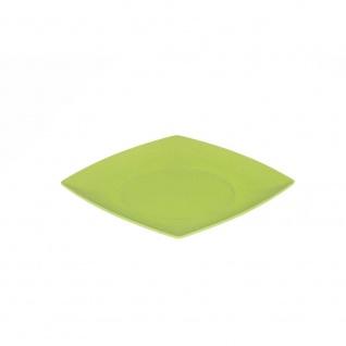 Kuchenteller, Platte flach eckig 21x21cm grün Magu NATUR DESIGN WA