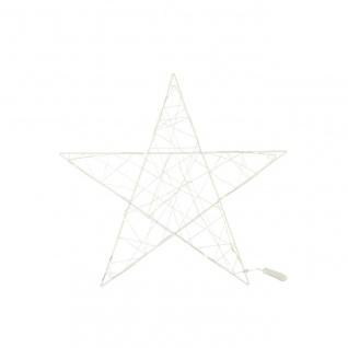 weihnachtlicher LED Deko Hänger Stern ANCELLA M weiß D. 40cm Metall Decostar W17