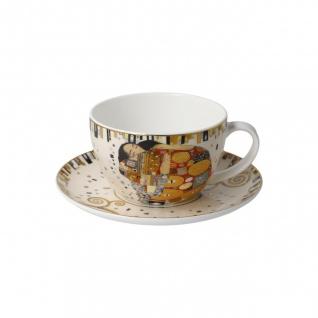 Gustav Klimt Tasse mit Untertasse Die Erfüllung 250ml weiß gold Goebel Porzellan