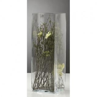 Glasvase, Blumenvase, Dekoglas CUBE H. 42cm 14x14cm eckig Sandra Rich