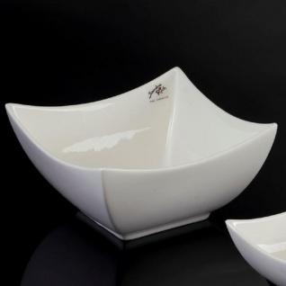 12er SET Porzellanschalen CURVE Quadratisch weiß 15x15cm Sandra Rich