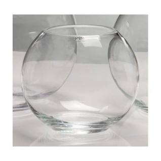 6er SET Glaskugeln Kugelvasen GLOBE H. 17cm D. 19cm Glas transparent Sandra Rich
