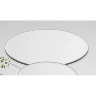 6er SET Spiegelplatten, Deko Tischspiegel D. 20cm rund Glas Sandra Rich
