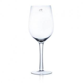 XXL Weinglas VINO auf Fuß H. 40cm D. 12cm transparent rund Sandra Rich