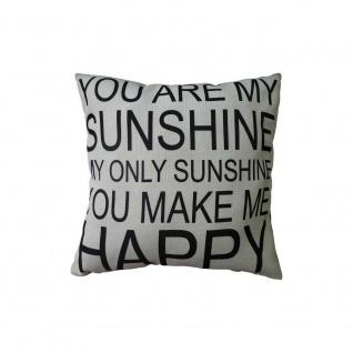 Kissen mit Füllung SUNSHINE 45x45cm schwarz weiß Baumwolle Polyester My Flair