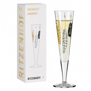 Ritzenhoff CHAMPUS Goldnacht Champagnerglas 03 FEDERN Kathrin Stockebrand 2017