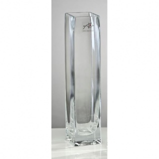 4er Set Glasvasen, Blumenvasen SQUARE H. 25cm rechteckig Glas Sandra Rich