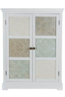 Schrank INEZ mit 2 Türen Weiß MDF 120x85x38cm My Flair