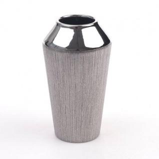 11cm silber Keramik Hendriks 10cm D Deko Vase TRIANGLE mit Dreieckmuster H
