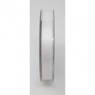 Doppelsatin Stoffband Schleifenband 10mm (1m=0, 20EUR) weiß 25m Rolle Goldina