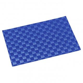 Platzset, Tischset GEFLOCHTEN blau 43x30cm Kunststoff Kesper