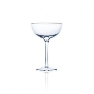 Cocktailglas, Dekoglas auf Fuß H. 16cm D. 11cm transparent rund Sandra Rich