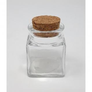 Vorratsglas, Flasche mit Korkverschluss STORAGE BOTTLE eckig H. 6cm Sandra Rich