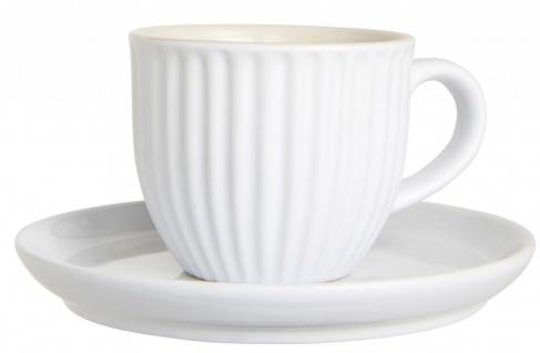 Espressotasse mit Untertasse MYNTE Pure White für 135ml Steingut weiß Ib Laursen