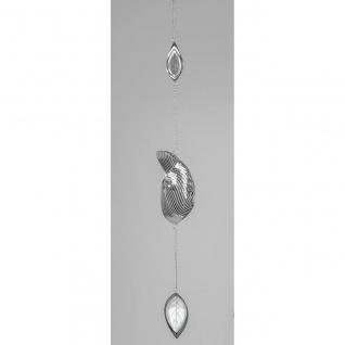 Fensterdeko Hänger LEAF Spirale L. 100cm silber Metall Formano